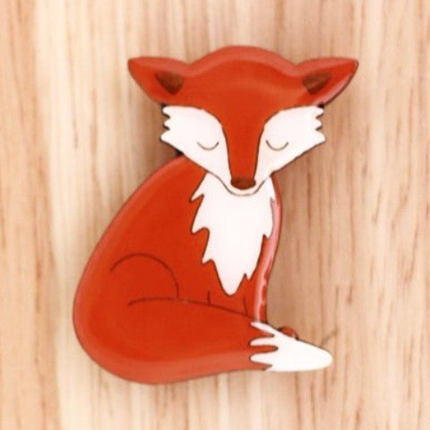 BOK BOK B'GERK 'FOX' BROOCH