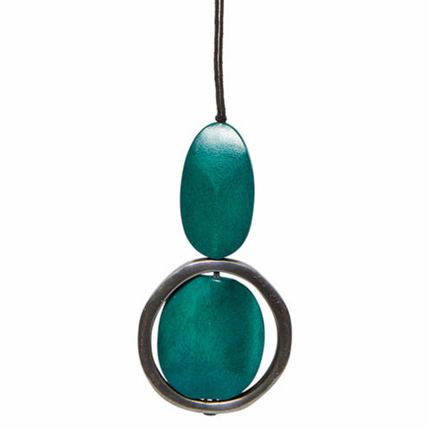ELK '3 PIECE PENDANT' NECKLACE TURQUOISE