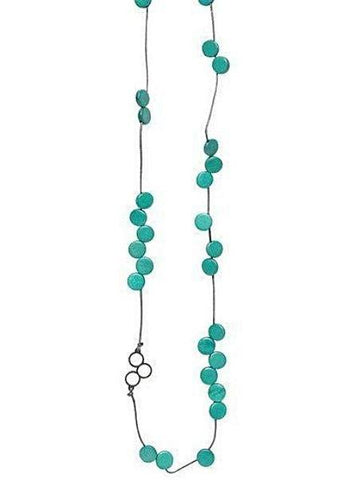 elk necklace 'disc bead station' turquoise