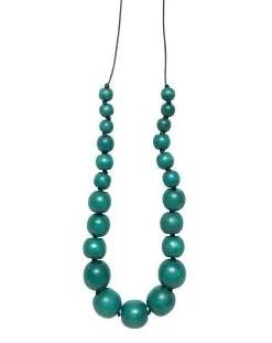 elk necklace 'simple bead' turquoise