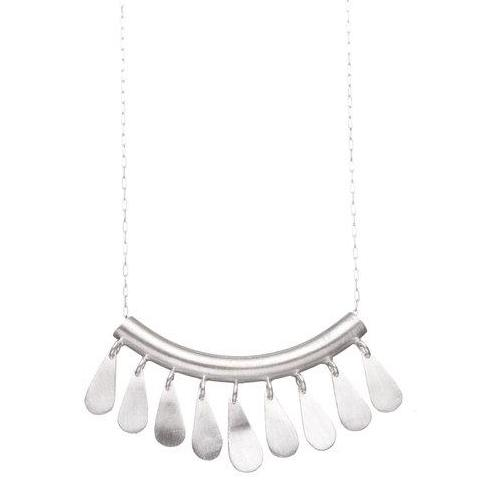 shabana jacobson necklace 'contemporary tribal inspired' silver lge