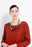 elk necklace 'reine' bright multicoloured - the-tangerine-fox