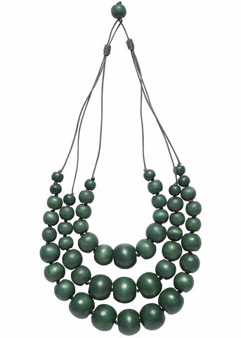 ELK '3 ROW CHUNKY' NECKLACE EMERALD GREEN