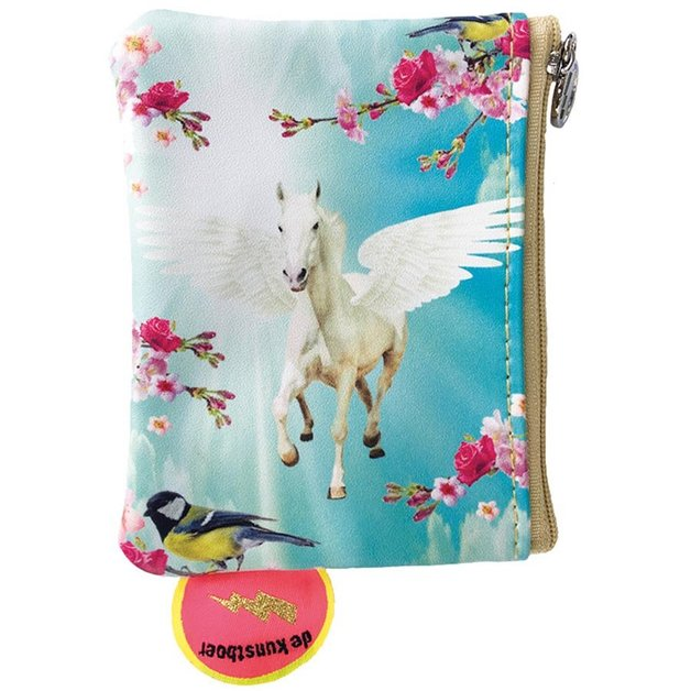 de kunstboer coin purse 'pegasus unicorn'