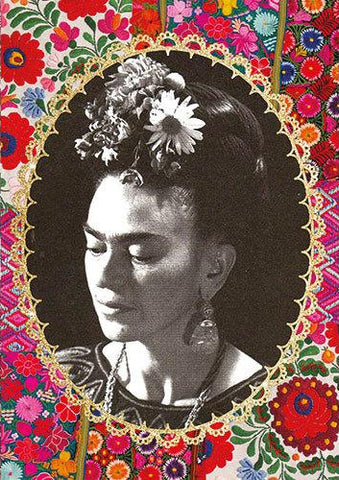 kitsch kitchen notebook 'frida kahlo' b/w photo