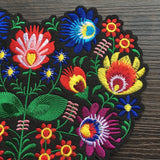 embroidered patch 'flower heart' large