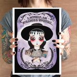 jubly-umph art print 'i myself am strange and unusual' A4