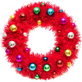 acorn & will christmas wreath 'kitsch red'