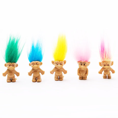troll doll 'green hair' 3cm - the-tangerine-fox