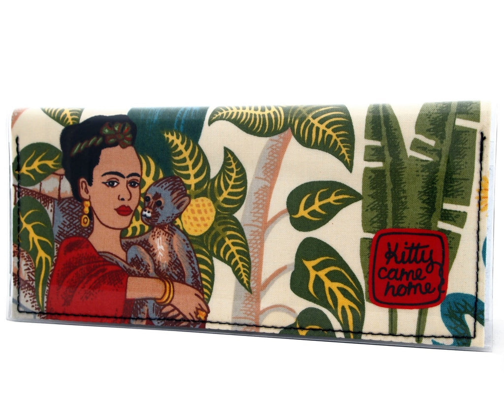 kitty came home bi-fold clutch 'frida with monkey'