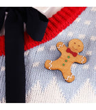 bok bok b'gerk brooch 'christmas gingerbread man'