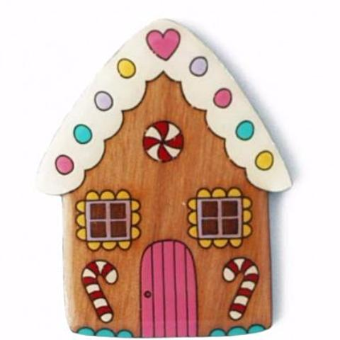 bok bok b'gerk brooch 'gingerbread house'