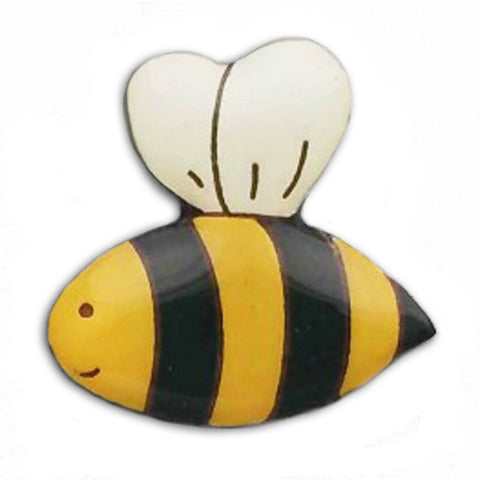 bok bok b'gerk lapel pin 'bee' - the-tangerine-fox
