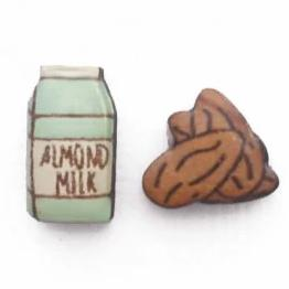 bok bok b'gerk earrings 'almond milk & nuts' - the-tangerine-fox