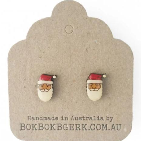 bok bok b'gerk earrings 'christmas santa'