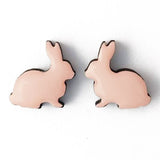 bok bok b'gerk earrings 'rabbit' pink