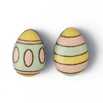 bok bok b'gerk earrings 'easter egg' oval band & stripes