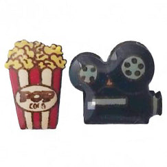 bok bok b'gerk earrings 'popcorn & camera'