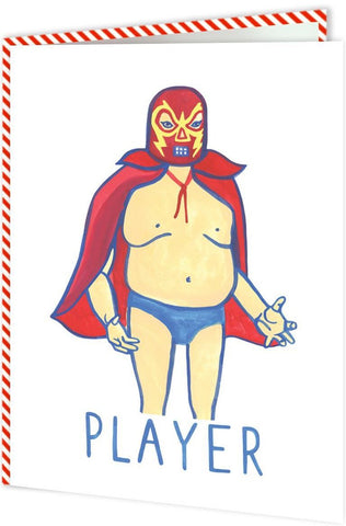unknown ink greeting card 'player'