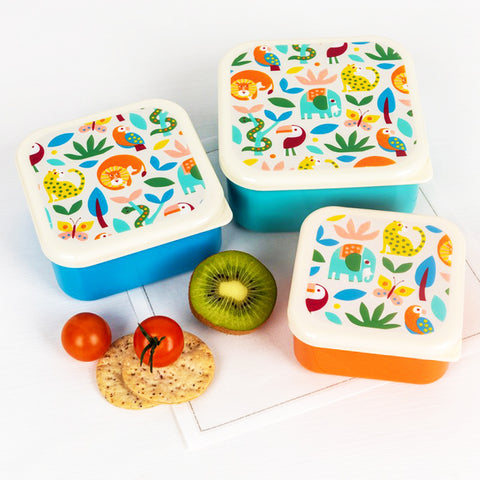 rex london 'wild wonders snack boxes' 3 set
