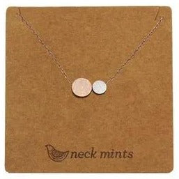mints necklace '2 tone circle' rose gold
