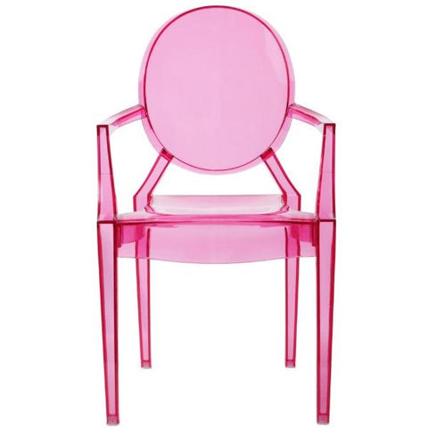 miniature chair 'ghost' 1:6 scale pink