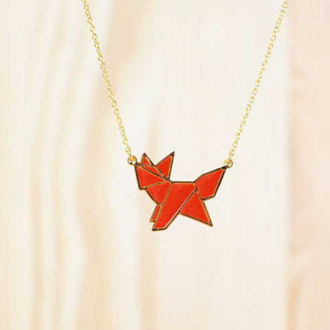 HUG A PORCUPINE 'ORIGAMI FOX' NECKLACE