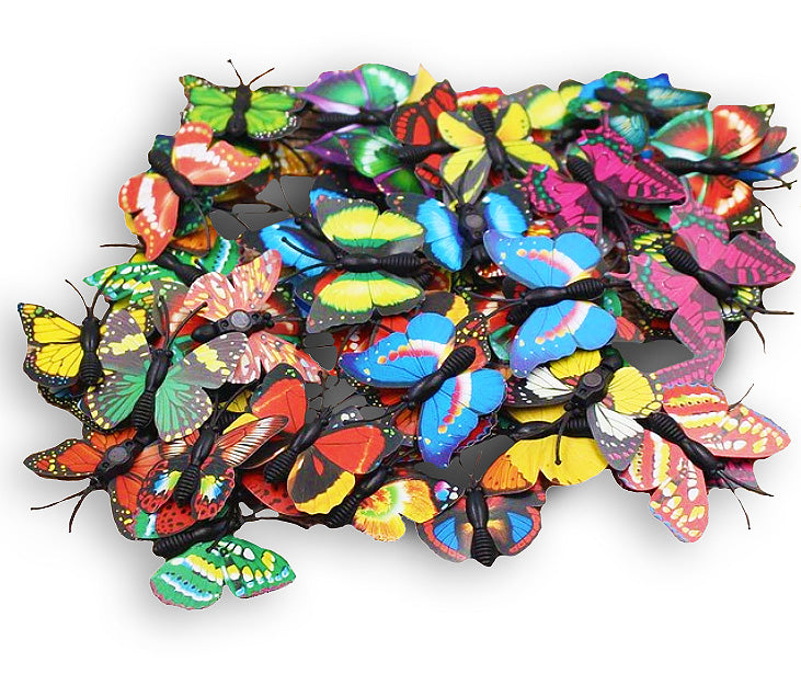 wall sticker '3D butterflies 12 pack' bright