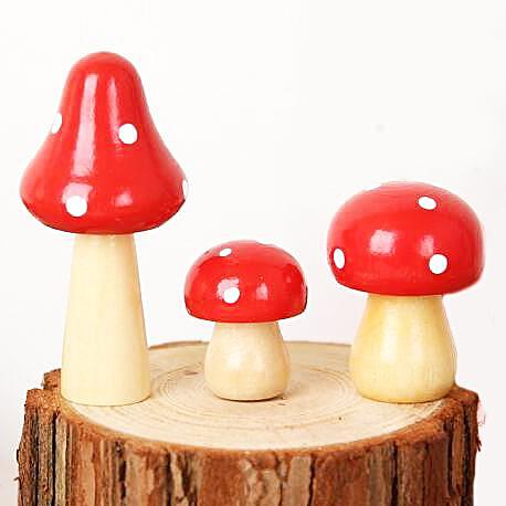 miniature 'wooden toadstool' small
