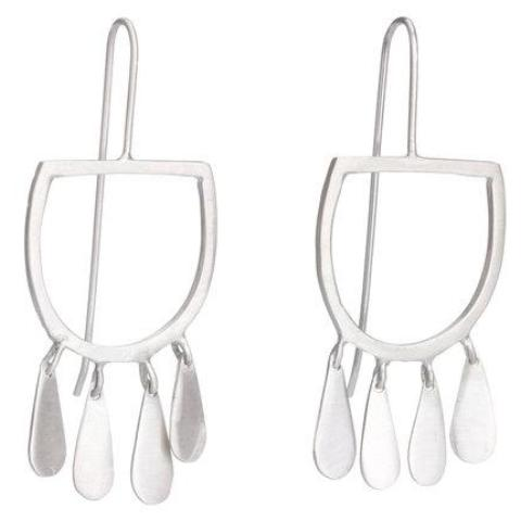 shabana jacobson earrings 'tribal inspired contemporary' silver