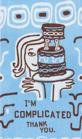 blue q dish towel 'i'm complicated '