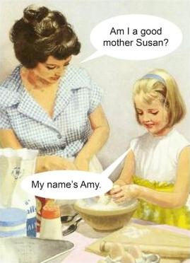 kiss me kwik greeting card 'am i a good mother susan'
