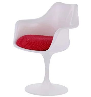 miniature chair 'tulip with arms' white & red
