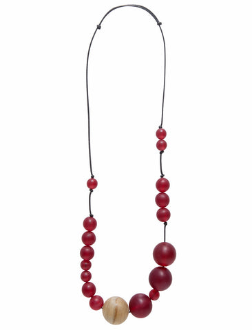 ELK 'FROSTED SPHERE' NECKLACE SCARLET