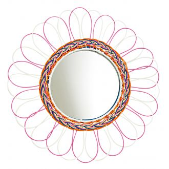 kitsch kitchen mirror 'margarita' pink & white