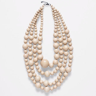 ELK '4 STRAND BAUBLE' NECKLACE BLONDE