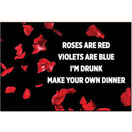 magnet 'roses are red...'