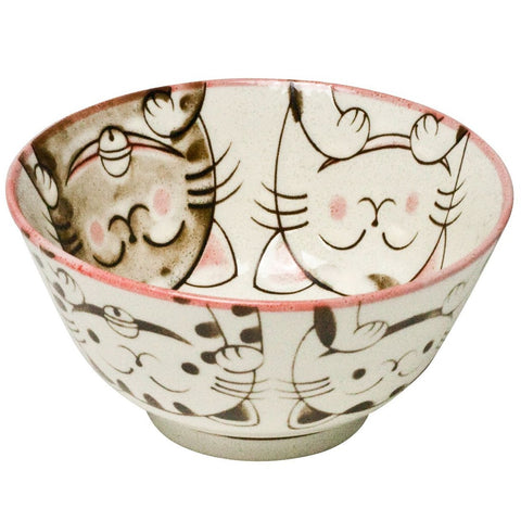 concept japan 'cat' bowl pink small