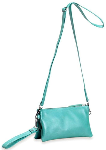 elk bag 'triple city' lapis green