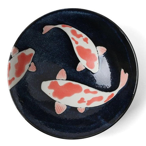 concept japan 'aizome koi carp' large bowl