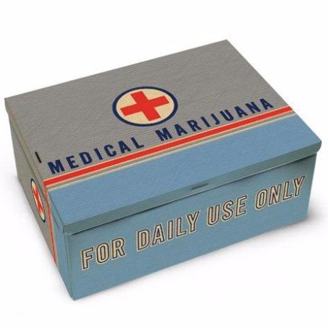 blue q cigar box 'medical marijuana'