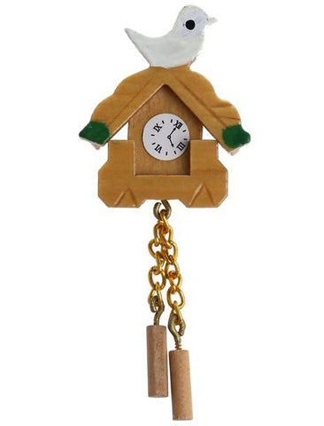 miniature 'cuckoo clock with bird'