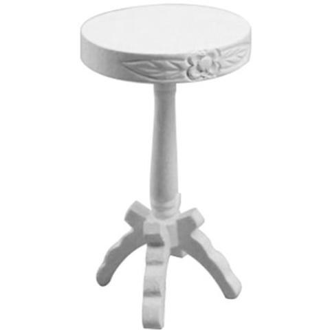 miniature 'round side table' white