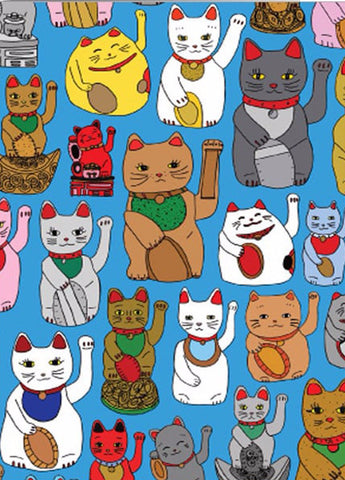 ahd paper co. poster 'lucky cats'