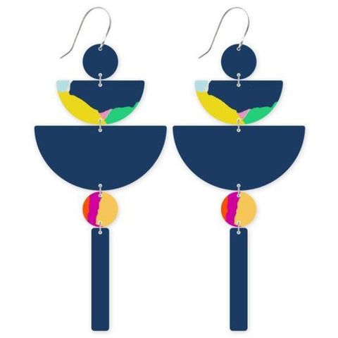moe moe earrings 'all metal chandelier' bright moelab