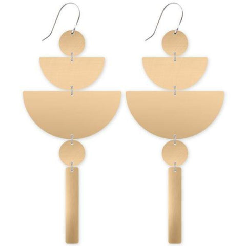 moe moe earrings 'all metal chandelier' light gold