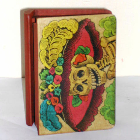 mexican wooden box 'day of the dead'