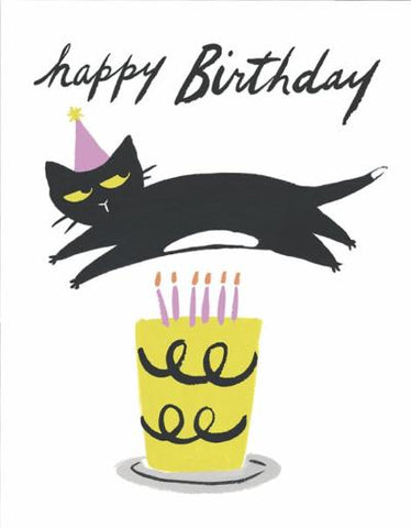 idlewild co. greeting card 'cat candles'
