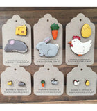 bok bok b'gerk brooch 'chicken & egg'