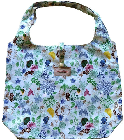 gifted hands shopping bag 'botanical' blue